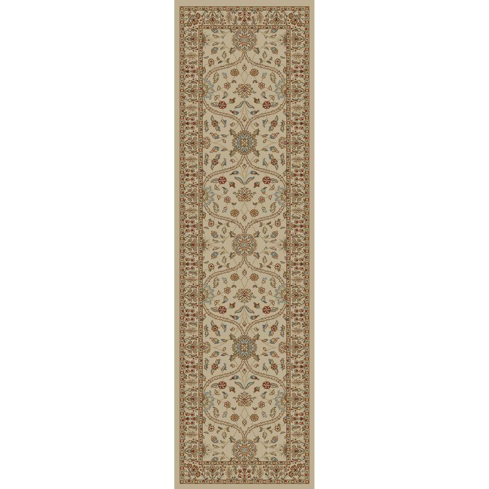 Concord Global Trading Jewel Voysey Ivory-Tonel 2 ft. 3 in. x 7 ft. 7 in. Rug Runner
