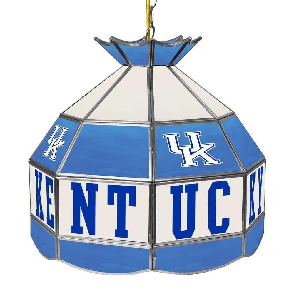 University of Kentucky Blue Hanging Tiffany Style Lamp