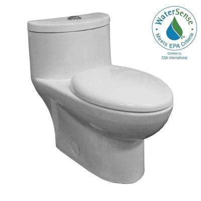 Tofino Concealed Trapway 1-piece 1.1/1.6 GPF Dual Flush Elongated Toilet in White