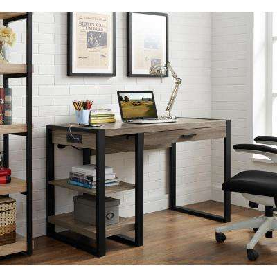 Urban Blend Driftwood Desk with Storage