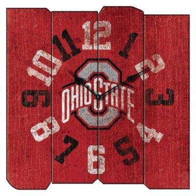 Ohio State Vintage Square Clock