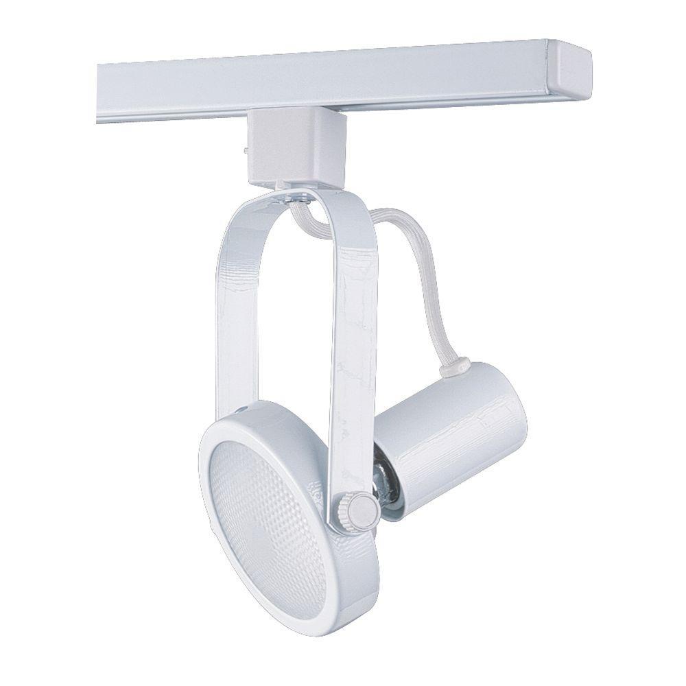 Par 30 White Gimbal Ring Track Lighting Fixture