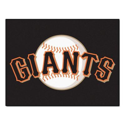 MLB San Francisco Giants Black 3 ft. x 4 ft. Indoor Area Rug