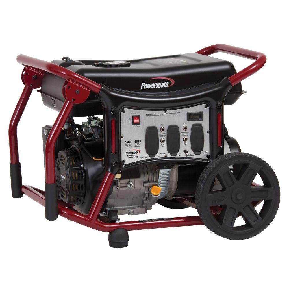 Powermate 5,500-Watt Gasoline Powered Manual Start Portable Generator