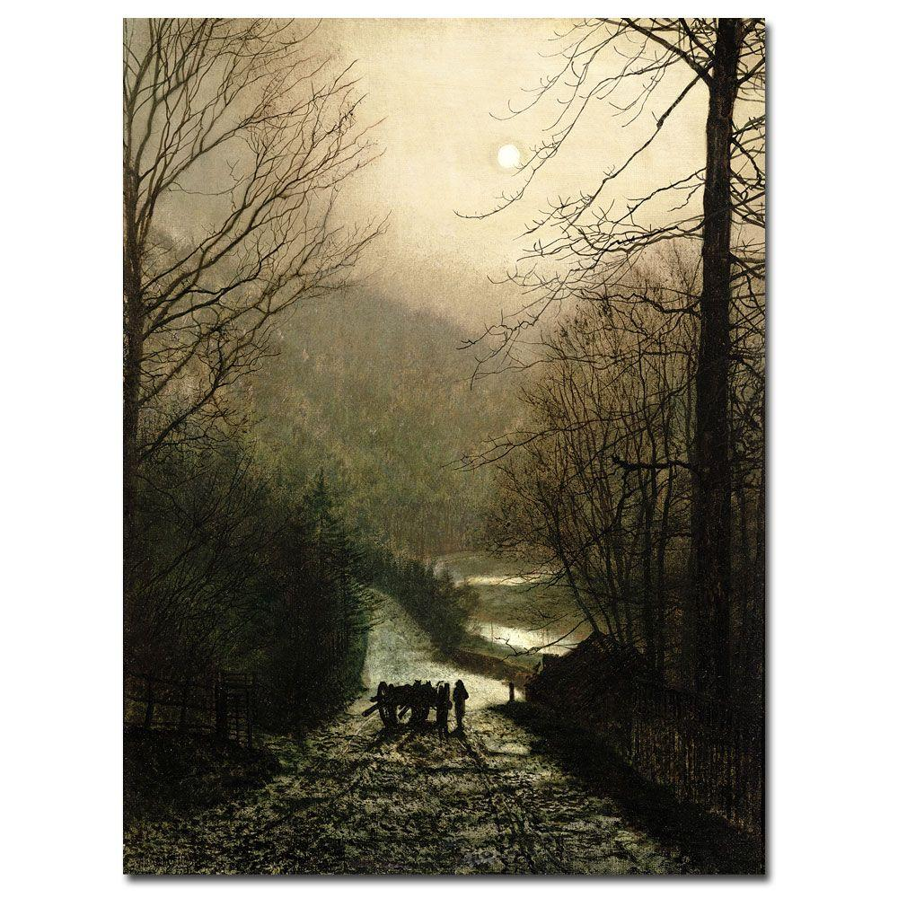 18 in. x 24 in. The Timber Waggon Canvas Art