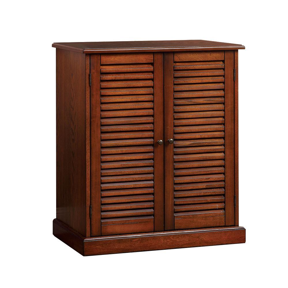 Della Shoe Cabinet in Oak Finish