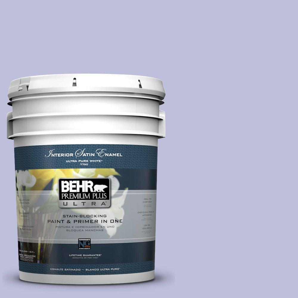 5-gal. #610A-3 Lavender Sachet Satin Enamel Interior Paint