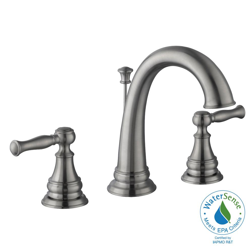 Fairway 8 in. Widespread 2-Handle High-Arc Bathroom Faucet in Brushed Nickel
