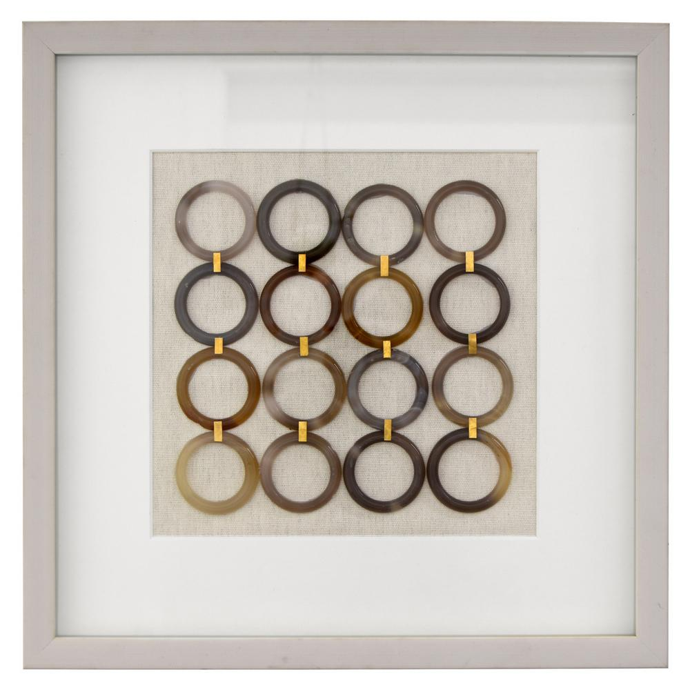 THREE HANDS 15.75 in. x 15.75 in. Shadowbox Framed Art with Rings in ...