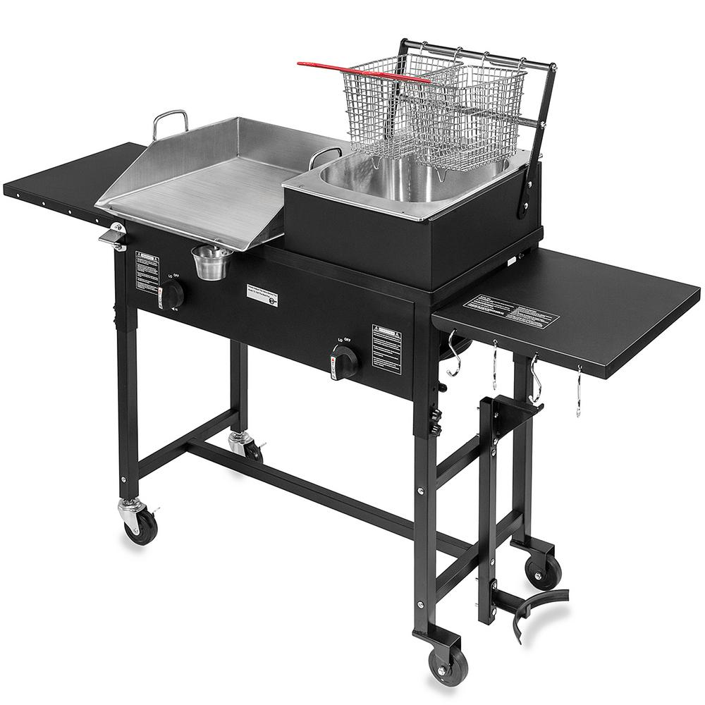 XtremepowerUS Portable Outdoor Grill Double Burner Propane