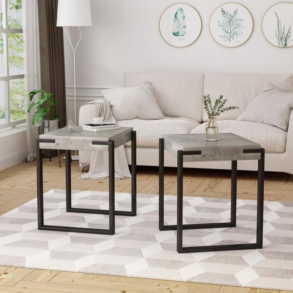 Black Metal End Table CK8772 - The Home Depot