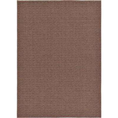 Outdoor Modern Brown 7' x 10' Rug