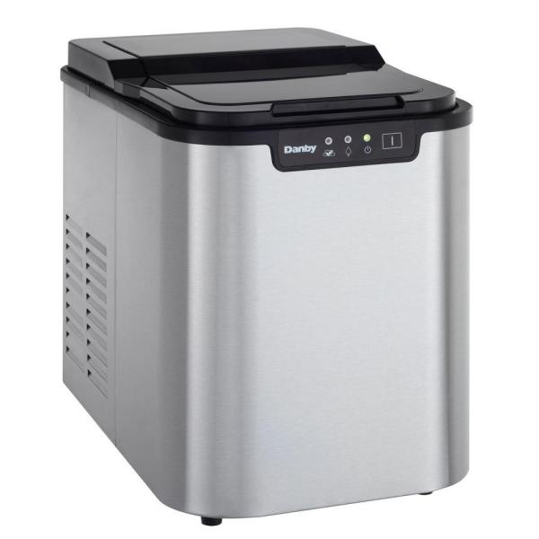 25 lbs. Freestanding Ice Maker in Stainless Steel