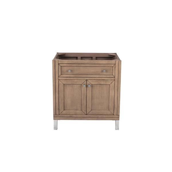 Chicago 30 in. W x 23.75 in. D Single Bath Vanity Cabinet Only in White Washed Walnut
