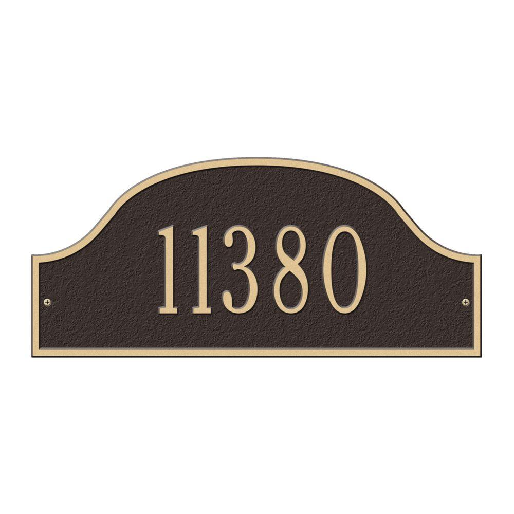 Admiral Standard Arch Bronze/Gold Wall One Line Address Plaque