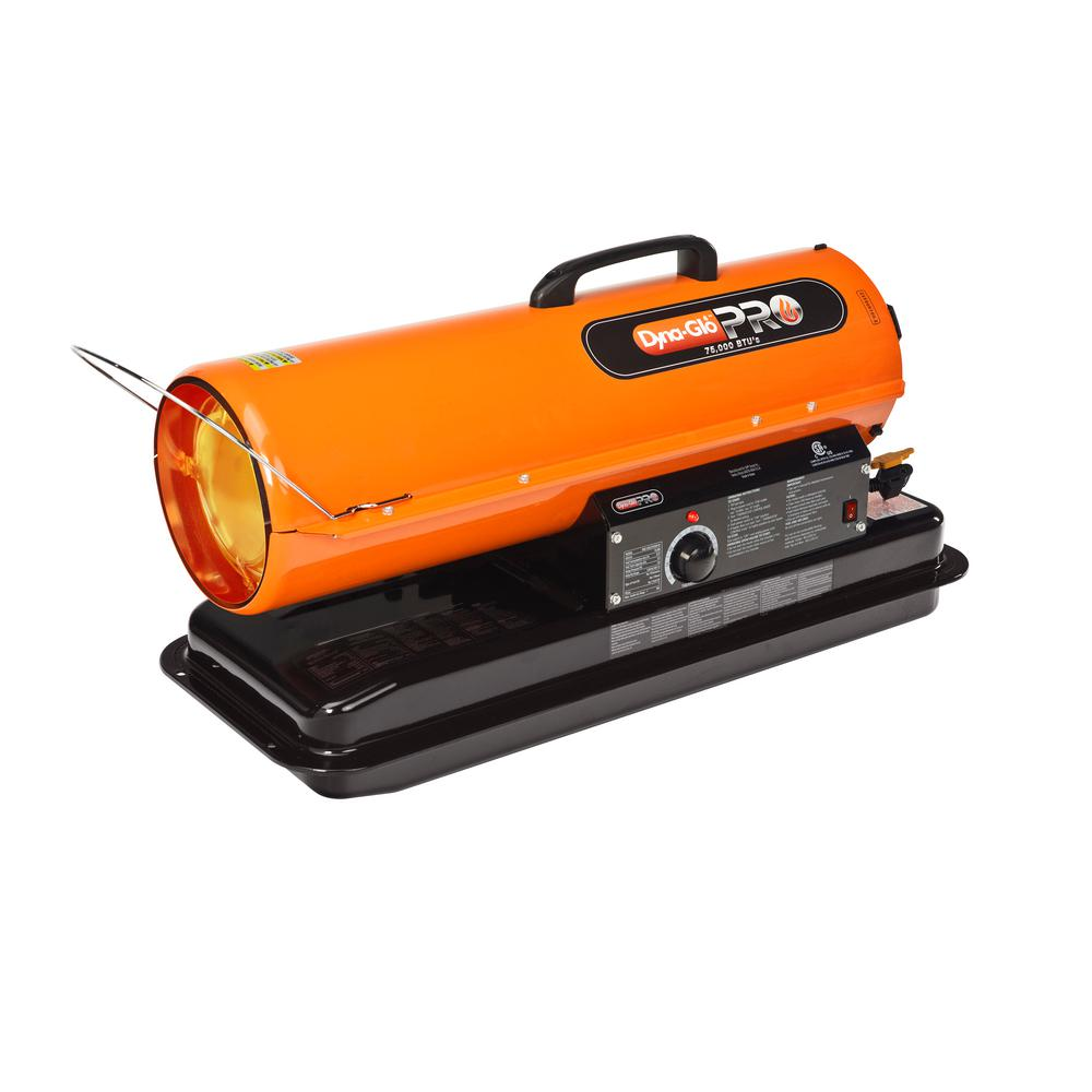 Dyna Glo Portable Kerosene Forced Air Heater, 75k Btu. Sold As Each