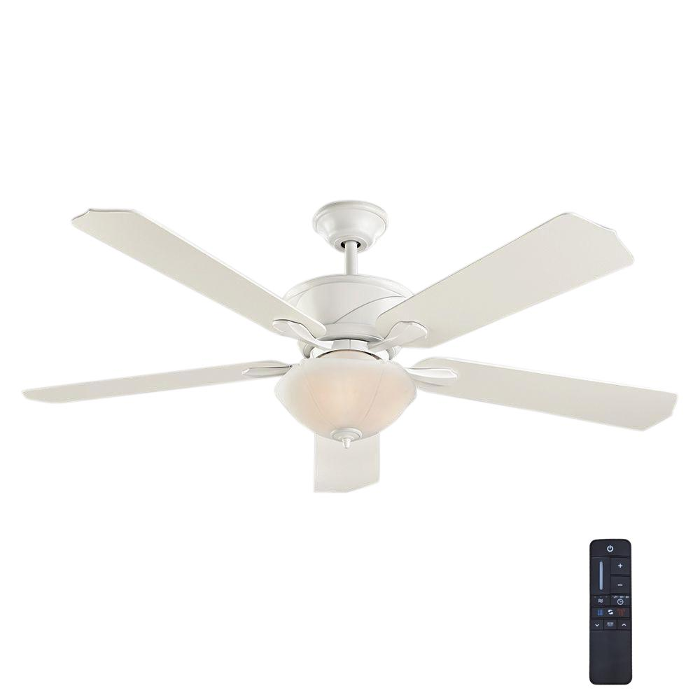 Home Decorators Collection Shenandoah 60 In. White Ceiling Fan With DC Motor