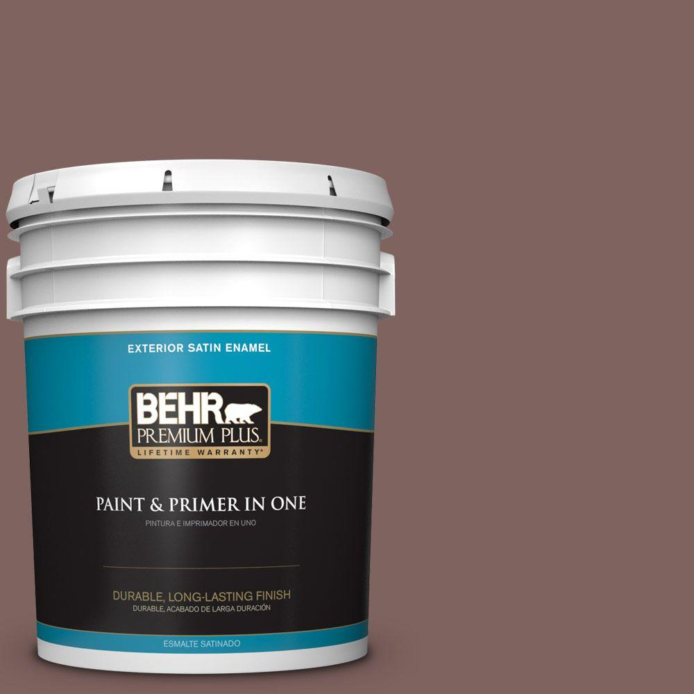BEHR Premium Plus 5-gal. #N130-6 River Rocks Satin Enamel Exterior Paint