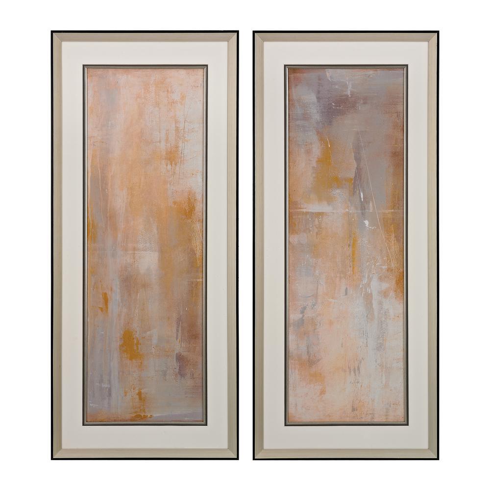 "43 in. x 19 in. ""Careless Whisper"" Printed Framed Giclee Under Glass Wall Art (Set of 2)"