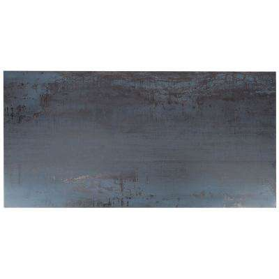 Metallic Dark Blue 24 in. x 48 in. x 8mm Matte Porcelain Floor and Wall Tile (2 pieces / 15.49 sq. ft. / box)