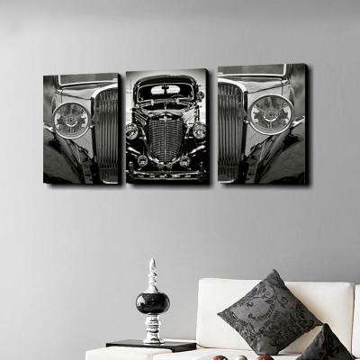 "20 in. x 42 in. ""Classic Car"" Printed Wall Art"