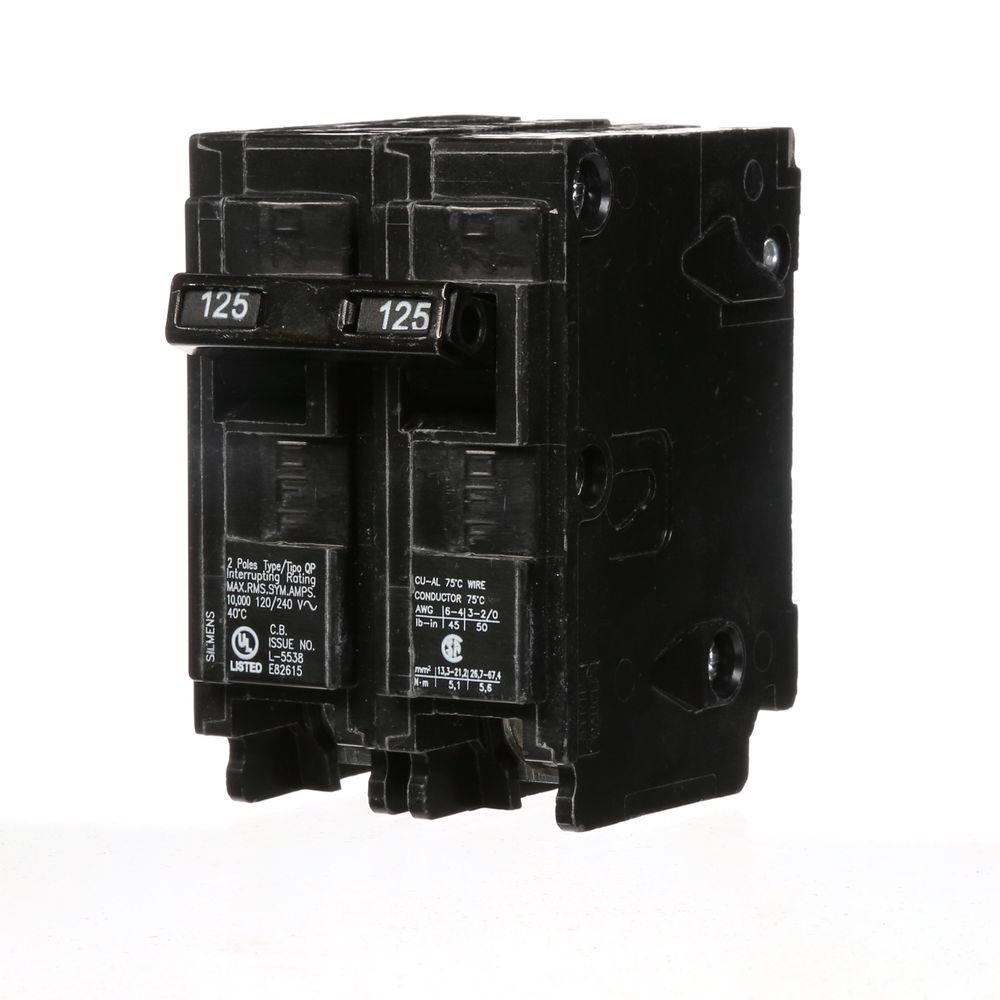 Siemens 125 Amp Double-Pole Type QP Circuit Breaker