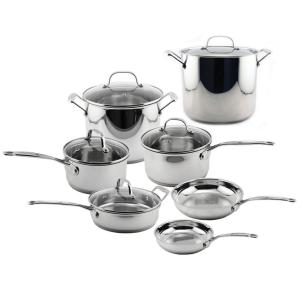 BergHOFF EarthChef Premium 12-Piece Stainless Steel Cookware Set with Lids by BergHOFF
