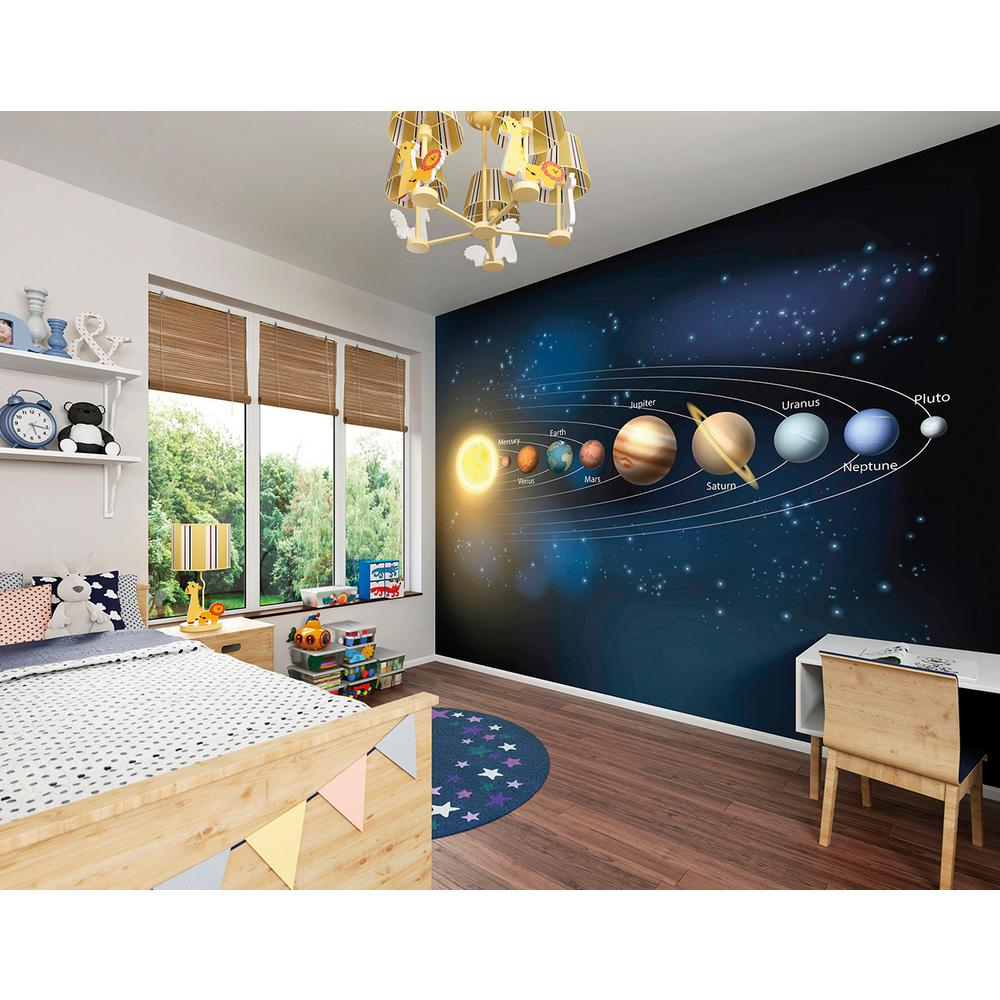 Brewster planets wall mural wals0270 the home depot for Brewster wall mural