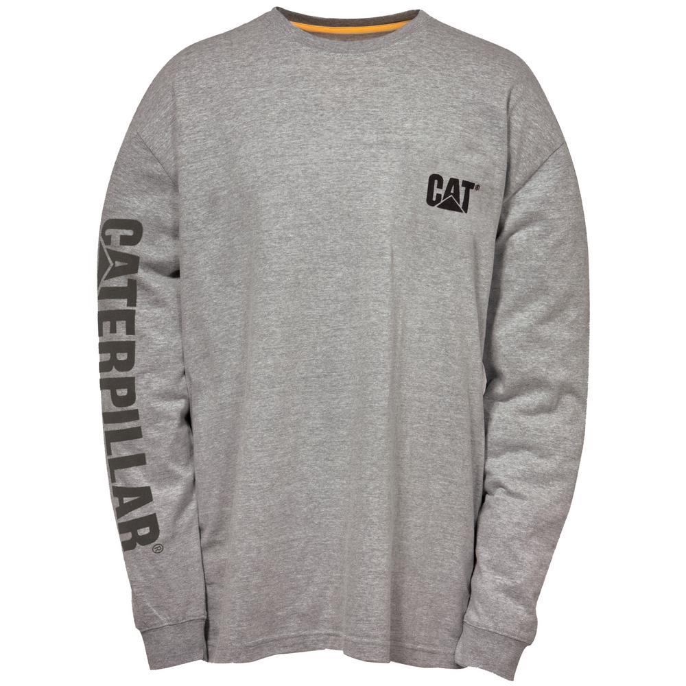 084abc9d9bf0 Trademark Banner Men's 2X-Large Dark Heather Grey Cotton Long Sleeved T- Shirt