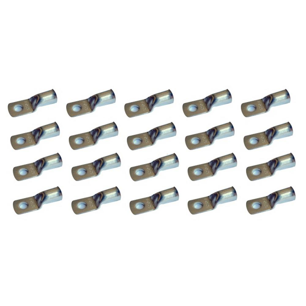 Pack of 10 1//0 Ga 5//16 Stud Copper Lugs