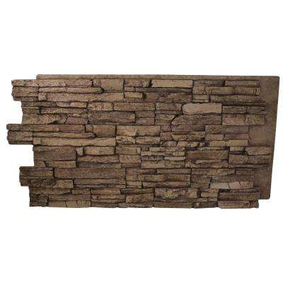 Faux Grand Heritage 24 in. x 48 in. x 1-1/4 in. Stack Stone Panel Cinnamon