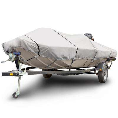 Sportsman 1200 Denier 23 ft. to 26 ft. Beam Width 102 in. Gray Low Profile Flat Front/Skiff/Deck Boat Cover Size BTSD-8