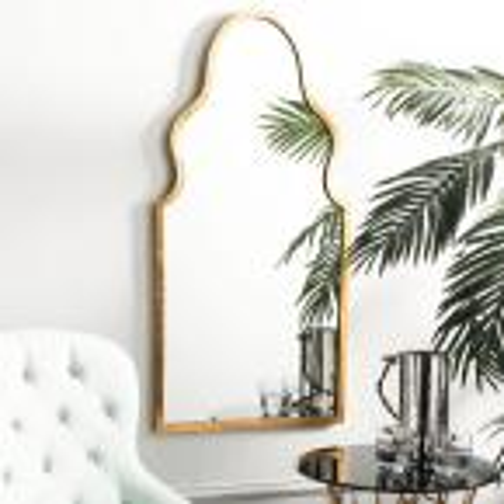 Parma Asymmetrical Iron Framed Mirror