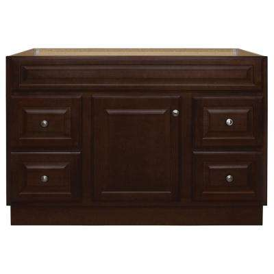 Hampton 48 in. W x 21 in. D x 33.5 in. H Bathroom Vanity Cabinet Only in Cognac