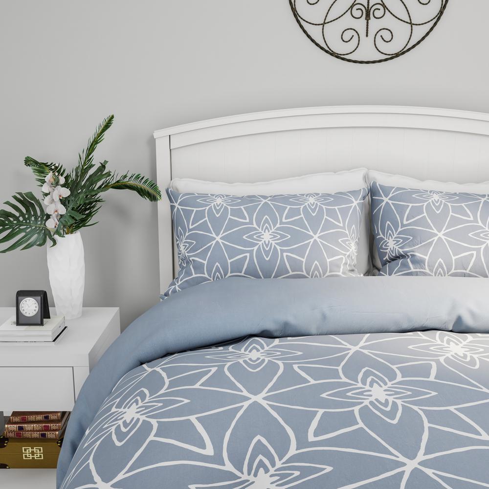3-Piece Blue King Comforter Set