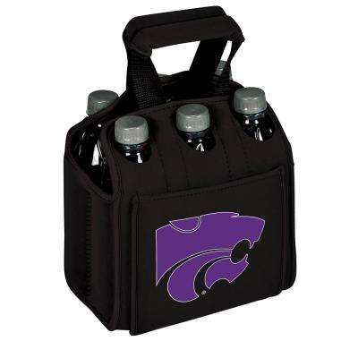 Kansas State University Wildcats 6-Bottles Black Beverage Carrier