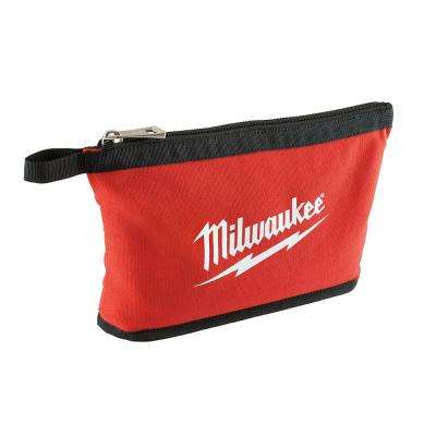 0.25 in. Zipper Pouch in Red