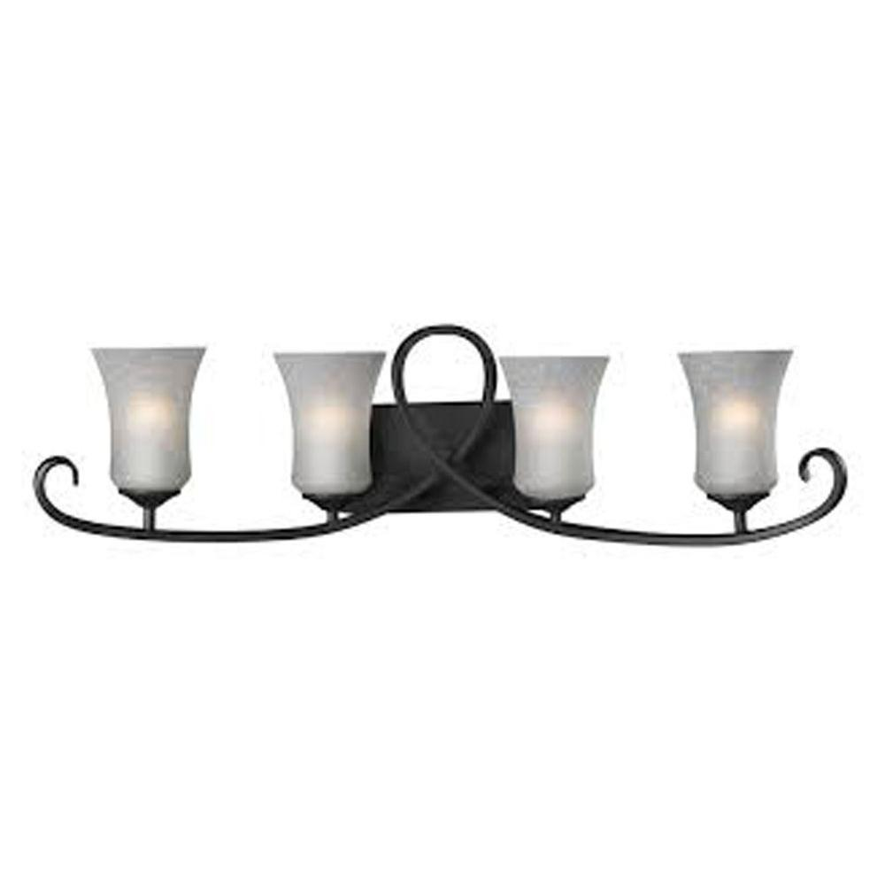Filament Design Lawrence 4-Light Cafe Bronze Incandescent Bath Vanity Light