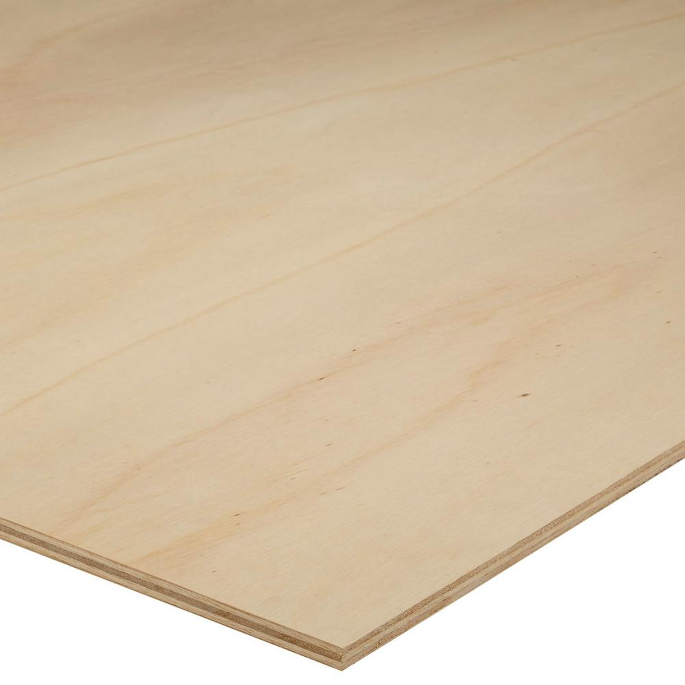 Sanded plywood common in ft actual