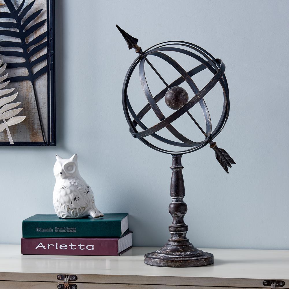 22 in. Amillary Arrow Globe Sculpture