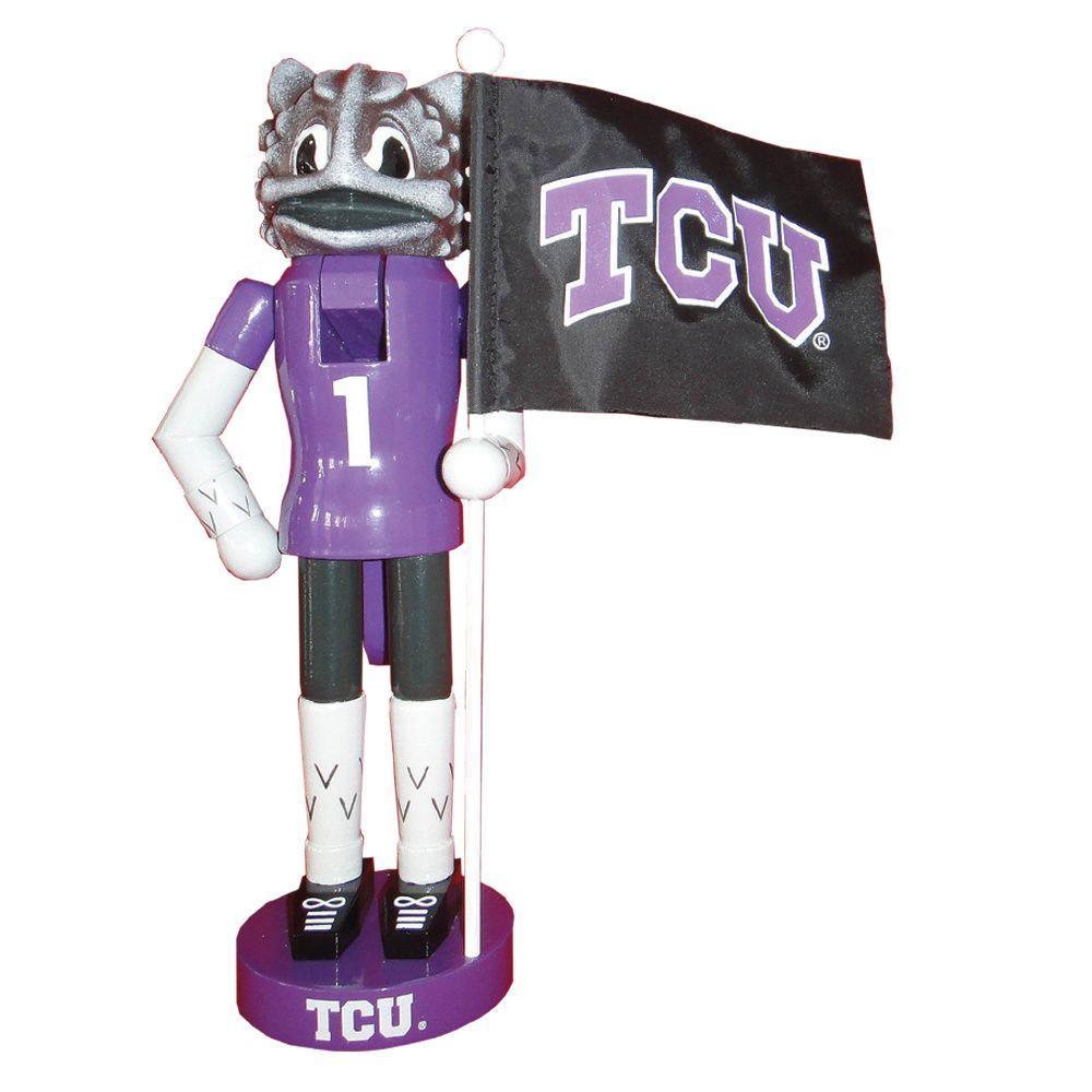 12 in. TCU Mascot Nutcracker with Flag
