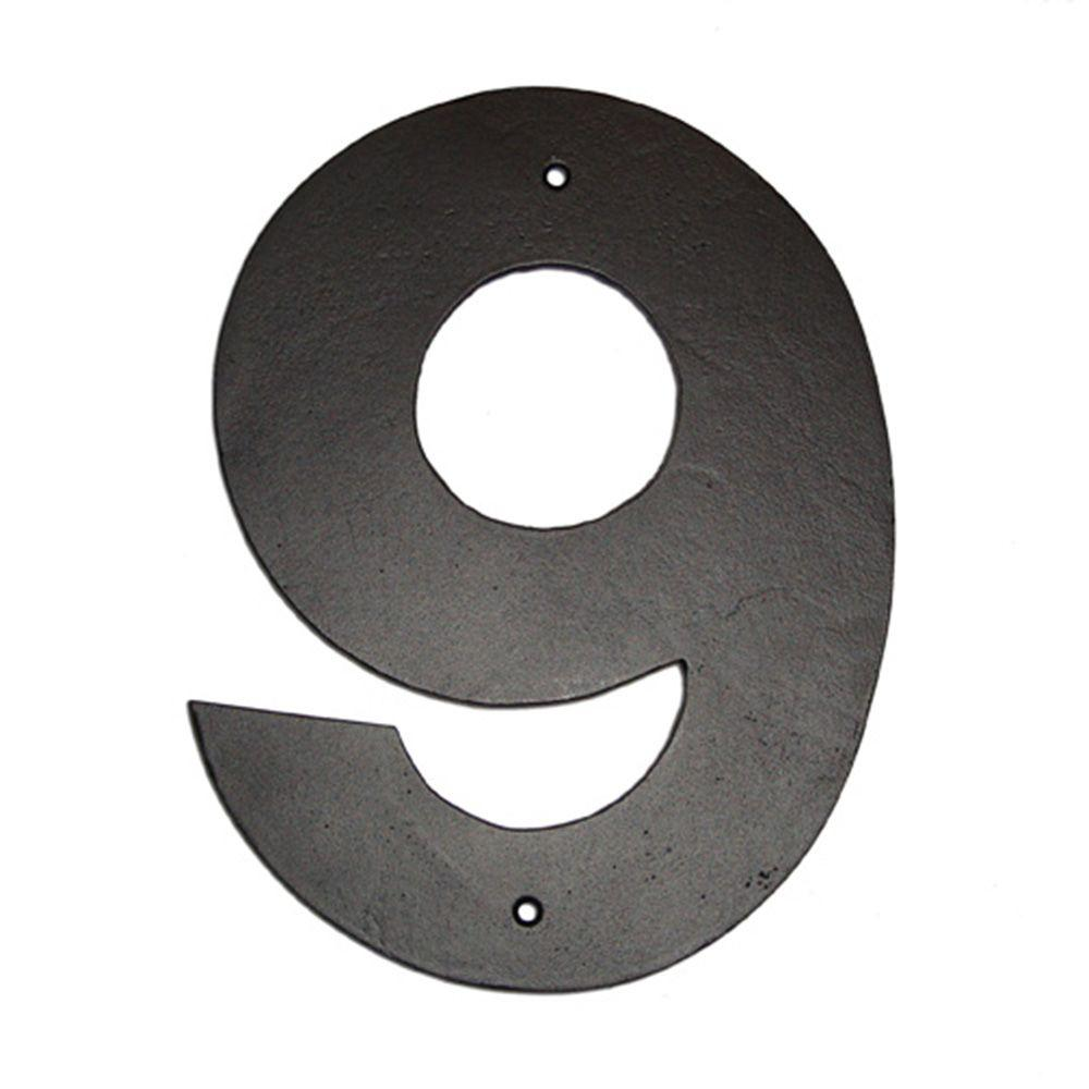 4 in. Helvetica House Number 9