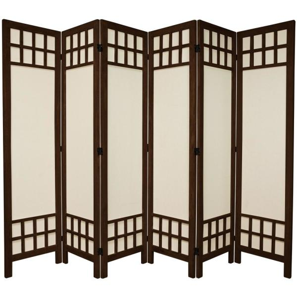 Awe Inspiring 6 Ft Burnt Brown Muslin Window Pane 6 Panel Room Divider Download Free Architecture Designs Embacsunscenecom