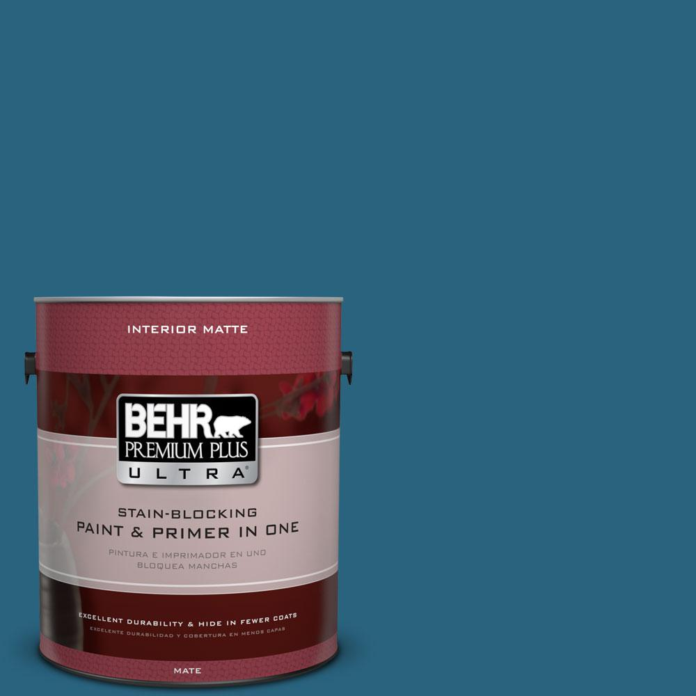 BEHR Premium Plus Ultra 1 gal. #550D-7 Southern Evening Matte Interior Paint and Primer in One
