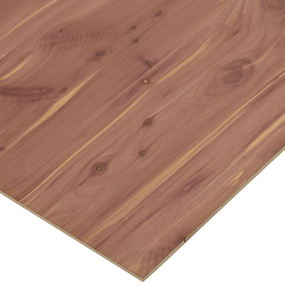 Columbia Forest Products 1/4 in. x 1 ft. x 1 ft. 7 in. Cedar PureBond Plywood Project Panel (10-Pack)