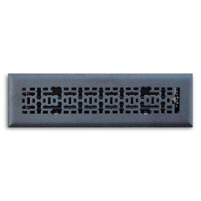 2 in. x 10 in. Modern Contempo Floor Diffuser, Matte Black