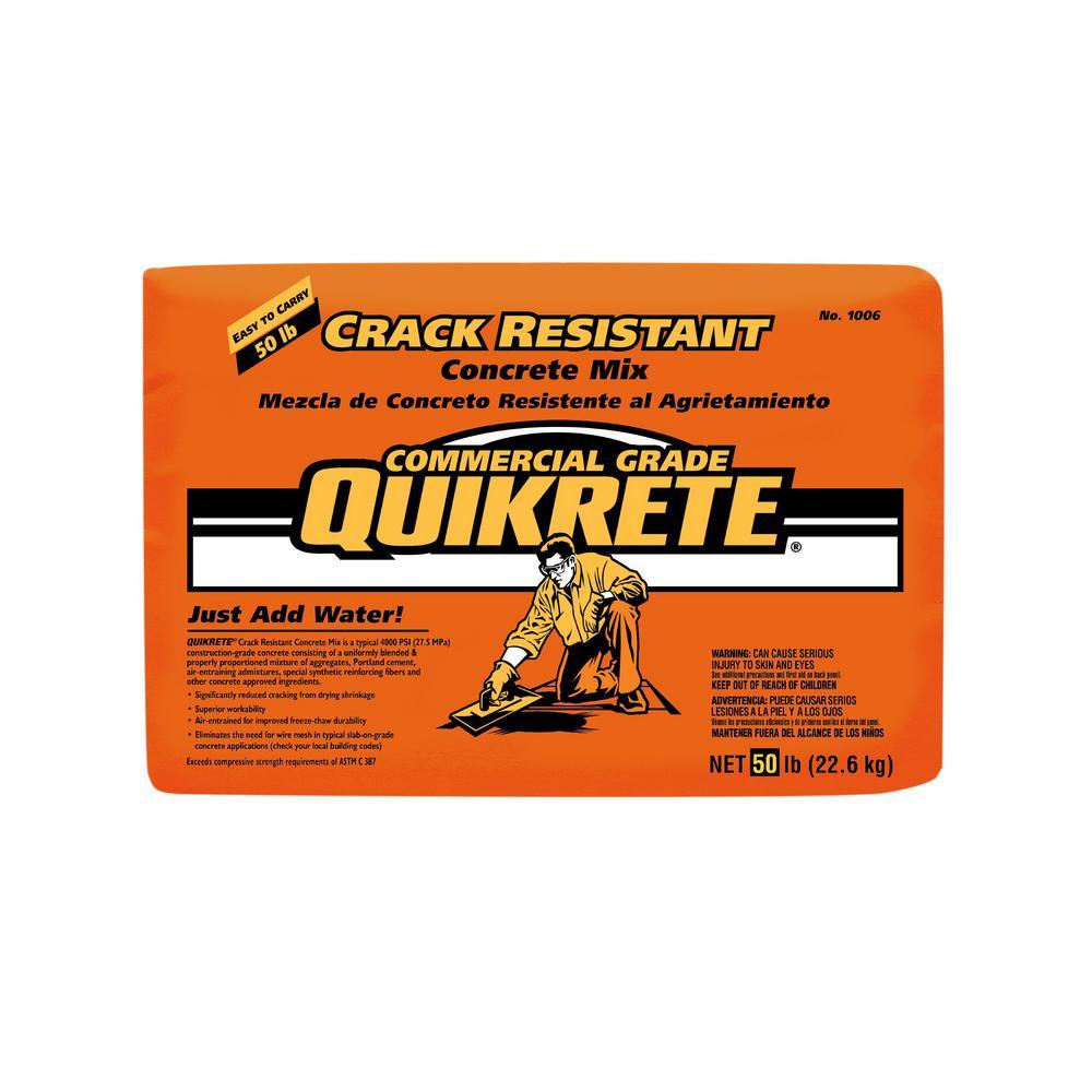 50 lb. Crack Resistant Concrete Mix