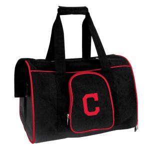 MLB Cleveland Indians Pet Carrier Premium 16 in. Bag in Red