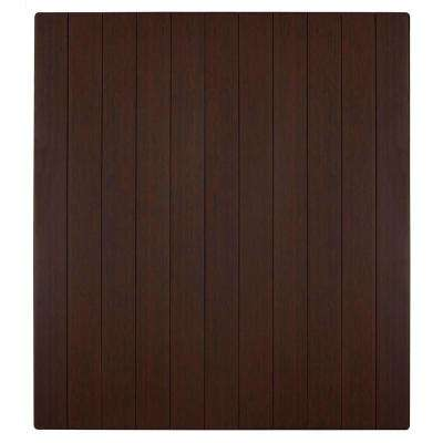 Bamboo Deluxe Dark Cherry 43 in. x 48 in. Chair Mat
