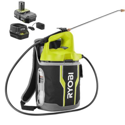 ONE+ 18-Volt Lithium-Ion Cordless 2 Gal. Chemical Sprayer and Backpack Holster with 2.0 Ah Battery and Charger Included